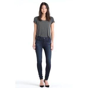 AG Farrah High Rise Stretch Blue Skinny Jeans 27
